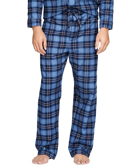 Broos Flanel 1 lyst brothers tartan flannel pajamas in blue for