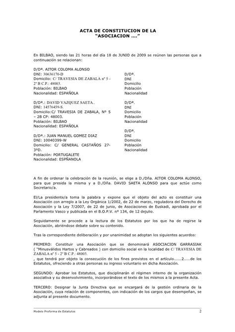 oficina dni donostia modelo de estatutos rellenable castellano f0308