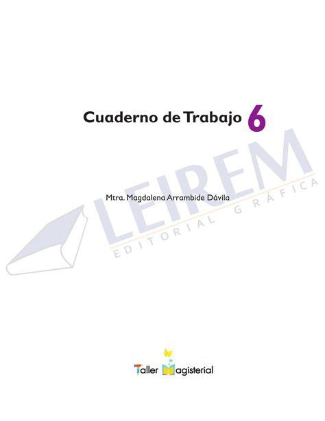 yasumi 6 cuaderno de cuaderno de trabajo 6o by editorial grafica leirem issuu