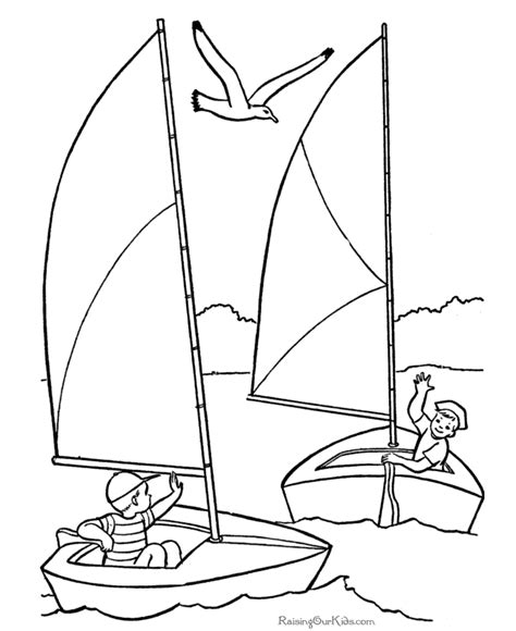 boat drawing for children s sailboat printables