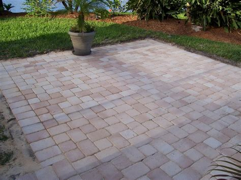 Patio Concrete Pavers Extending Your Concrete Patio With Pavers Dengarden