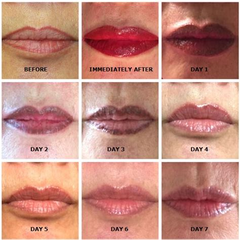 tattoo lips aftercare permanent lip tattoo healing process the art of beauty