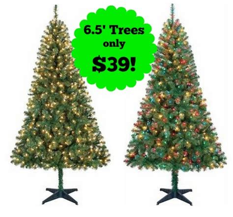 holiday time 6 pre lit christmas trees only 39