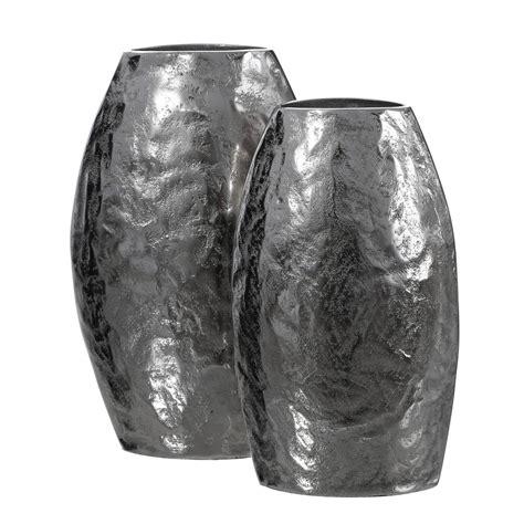 vasi in metallo color argento wedding tante