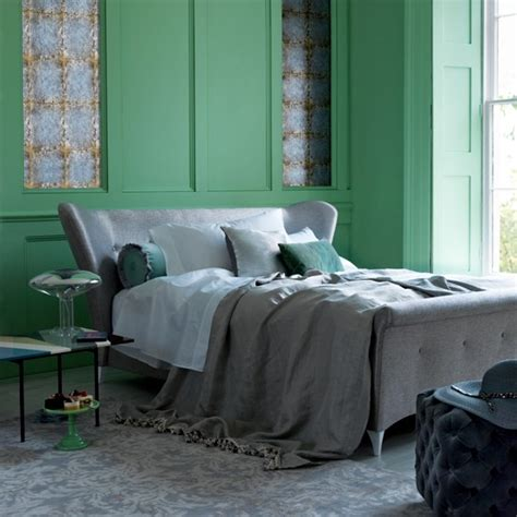 green and grey bedroom green bedroom ideas h g living beautifully