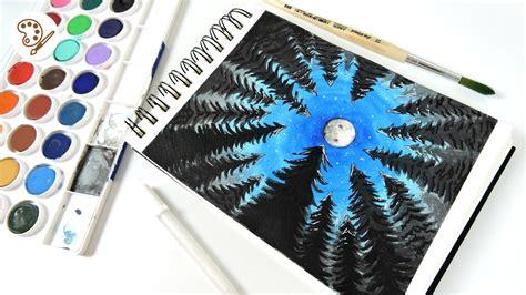 dibujos para pintar con acuarelas dibujo tumblr pinta un bosque con acuarelas jobi how