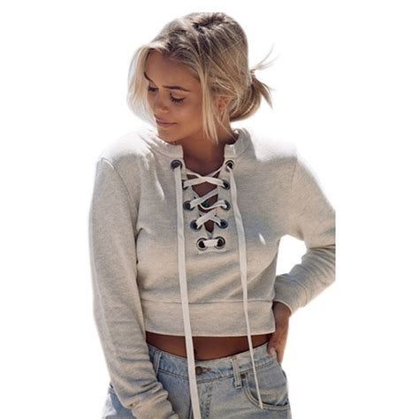 Sweater Top 100 tops lace up sweater crop top from s