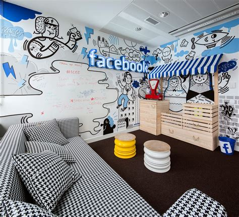Funky Workplace Design And Style For Facebook In Poland