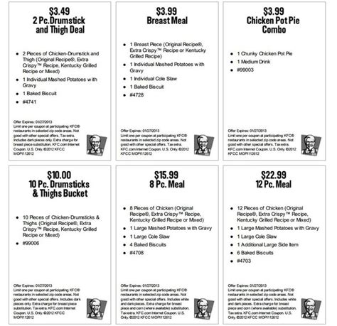 printable kfc coupons 2017 download kfc coupons