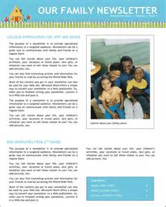 Family Newsletter Templates Free family newsletter for free page 2 formtemplate