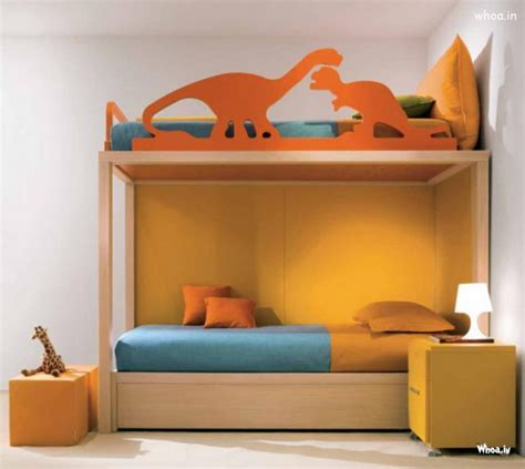 room with dinosaur accent in trendy bedroom plans for