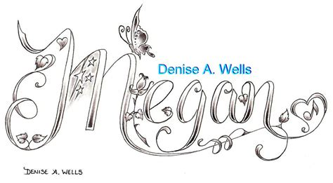 coloring pages of the name megan megan tattoo design by denise a wells the name megan
