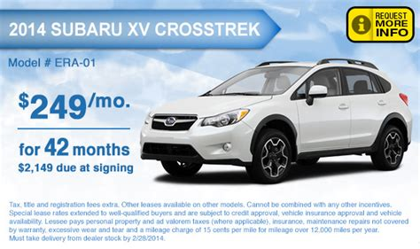 national ford lease specials subaru crosstrek accessories