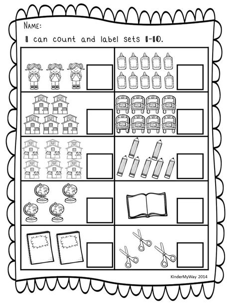 printable numbers with objects counting objects worksheets for grade 1 kindergarten