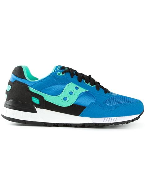saucony sneakers mens saucony panelled sneakers in blue for lyst