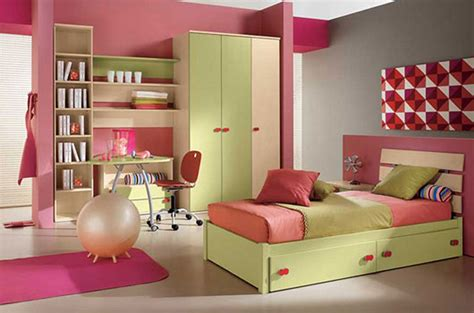 kids pink bedroom ideas charming kids bedroom with violet wall paint green white
