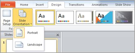 portrait layout in powerpoint 2013 change the page orientation in powerpoint between