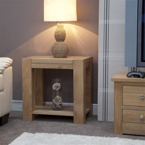 Pemberton Solid Chunky Oak Living Room Furniture L Sofa Oak Side Tables For Living Room