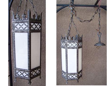 antique gothic chandelier brutalist iron pendant spanish