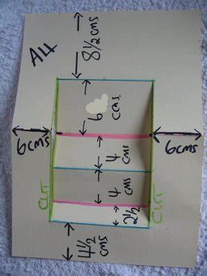 centre stepper card template a4 centre step card