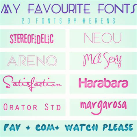 font pack my favourite fonts pack 20 fonts by erenfenty 07 on