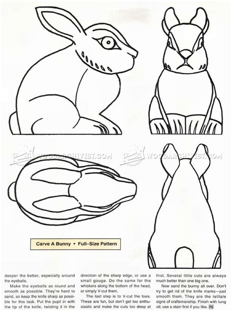 bunny carving rezbarstvi patterns wood carving