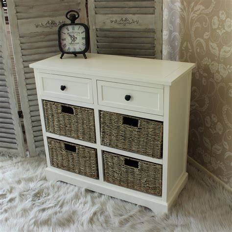Wicker Storage Drawers Bathroom Ivory Wooden Basket Chest Of Drawers Wicker Storage Unit Bedroom Bathroom Home Ebay