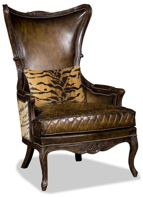 tiger chair leather and tiger print arm chair