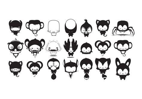 imagenes vectores de animales kawaii animales de dibujos animados paquete de vectores