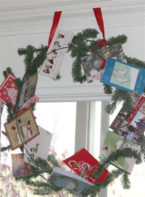 how to make a card wreath wreath card display