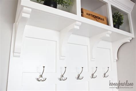 mudroom bench with hooks diy mudroom bench part 2 honeybear lane