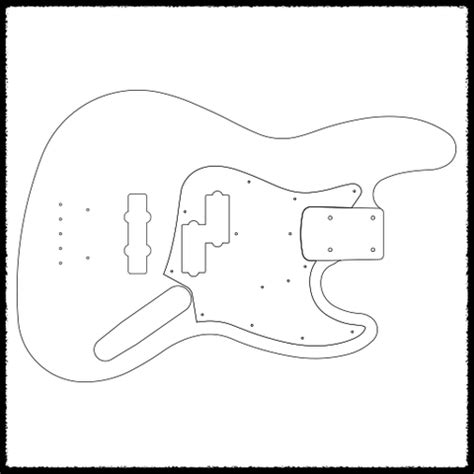 stratocaster routing template jazz bass guitar routing templates faction guitars