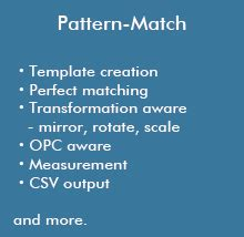 pattern matching functions nde mask manufacturable suite nippon control system
