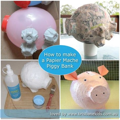 How To Make Things Out Of Paper Mache - 25 best ideas about piggy bank craft on