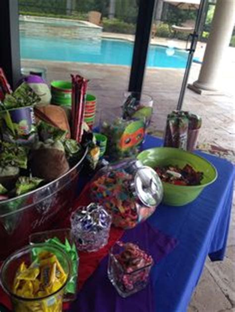 candy buffet ideas teenage mutant ninja turtle birthday