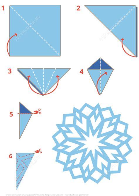 Snowflakes Origami - origami snowflake free printable papercraft