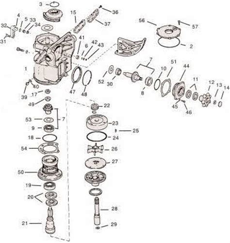 omc stringer parts diagram omc stringer outdrive parts pictures to pin on