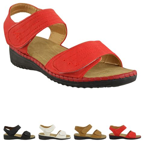 summer shoes flats womens velcro comfort wide casual walking flat