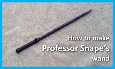 How To Make A Paper Wand - how to make professor snape s wand from harry potter mo