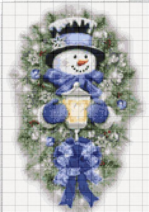 buy     snowman merry christmas  cross stitch etsy