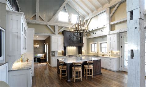 barn kitchen ideas mullet cabinet rebuilt timber frame barn home kitchen