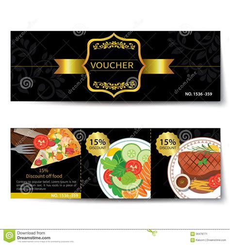 discount food set of food voucher discount template design stock vector image 56478771