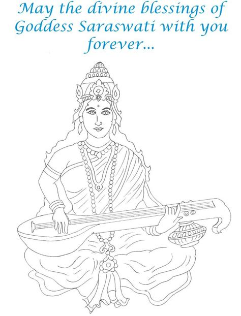 free coloring pages of saraswati puja