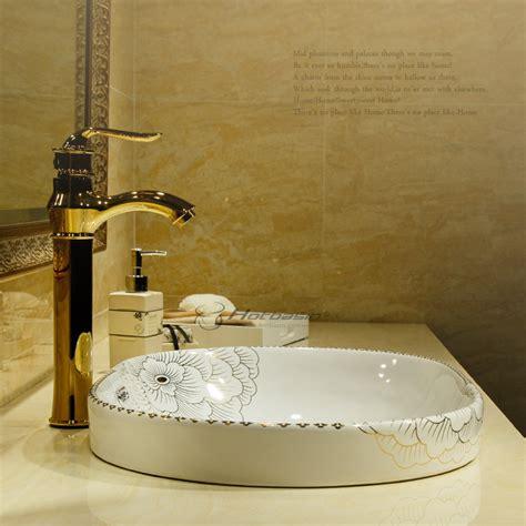 vintage drop in bathroom sinks vintage oval shaped drop in white ceramic sink faucet not
