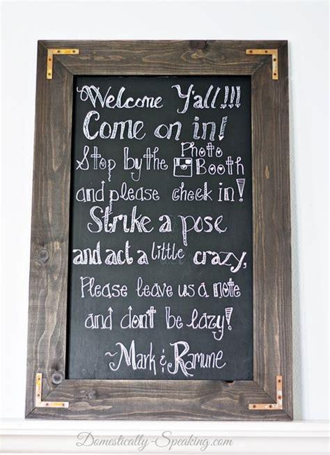 diy chalkboard sign tutorial diy rustic chalkboard for a wedding domestically speaking