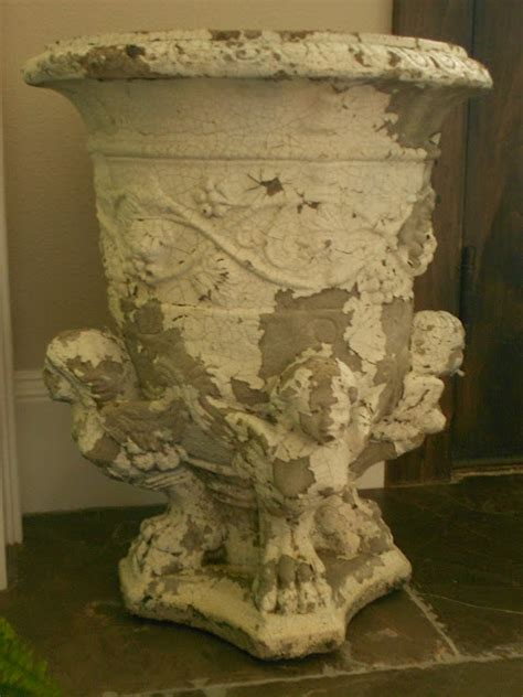my faux french chateau adding a vintage french bistro my faux french chateau unusual vintage garden urn added
