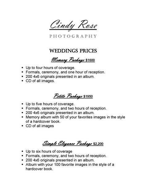 Wedding Photo Prices by Photography Wedding Prices