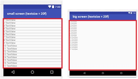xml layout height percentage kotlin android set textsize so it s height matches a