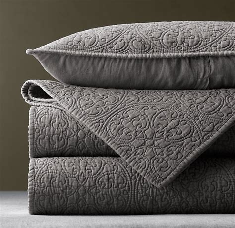 Grey Coverlet use this gray restoration hardware vintage washed belgian linen quilt modern takes on classic