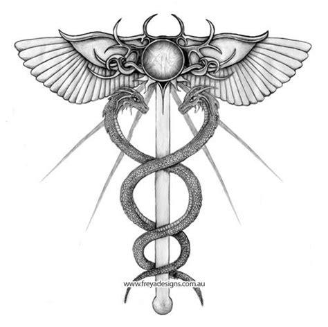 medical symbol tattoo designs 7 best caduceus images on caduceus